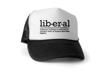 Liberal Definition - Liberal Trucker Hat by CafePress