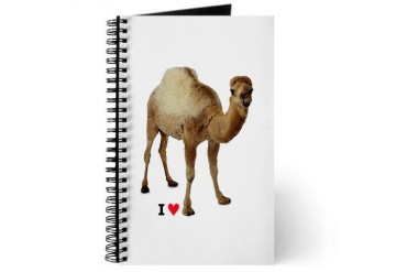 CAMEL TOE I heart Journal by CafePress