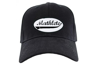Mathlete Funny Black Cap by CafePress