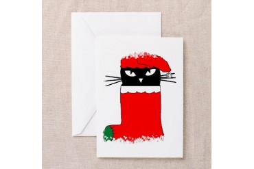 CHRISTMAS KITTY Pets Greeting Cards Pk of 10 by CafePress