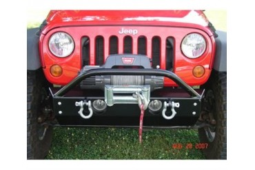 Rock Hard 4x4 Parts Shorty Winch Mount Front Bumper with Fog Lights  RH5001-B Front Bumpers