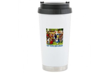 Off With Her Head Baby Ceramic Travel Mug by CafePress