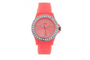 A Time Machine ATM 1001SCCC Coral Silicon Strap Watch