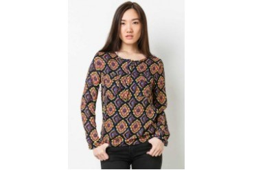 Maira Printed Long Sleeve Blouse