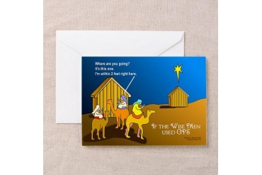 Wise Men Christmas Funny Greeting Cards Pk of 10 by CafePress