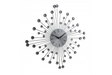 Sparkling Star Burst Metal Wall Clock