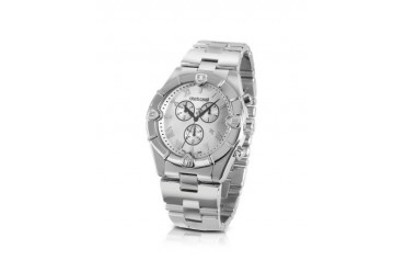 Diamond Time - Men's Silver Dial Chronograph Bracelet Watch