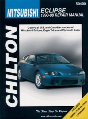 1990-1998 Mitsubishi Eclipse Manual Chilton Mitsubishi Manual 50400 on 1g talon, 92 eagle summit, 92 eagle premier, 1st gen talon, 92 eagle vision,