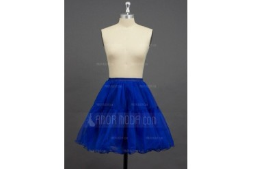 Women/Girls Organza/Polyester Short-length 2 Tiers Petticoats (037033991)