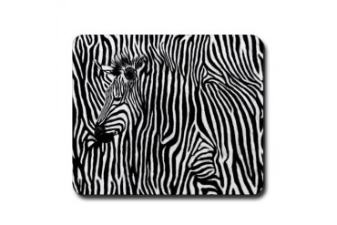 Zebra Stripe Mousepad
