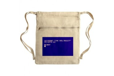 The 80s Rule Sack Pack 80s Cinch Sack by CafePress