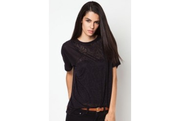 River Island Contrast Burnout Panel T-Shirt