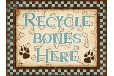 Recycle Bones Blue Poster Print by Diane Stimson (18 x 24)