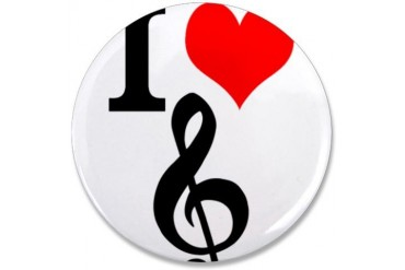 I Love Music Music 3.5 Button by CafePress