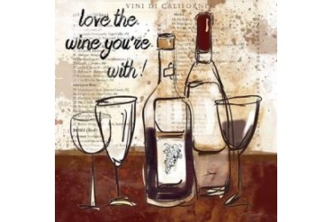 Love the Wine Poster Print by Carol Robinson (12 x 12)