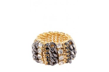 Crystals Gold Ring
