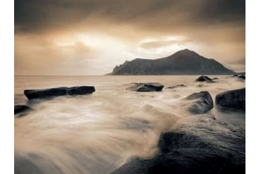 Sepia Sea, Lofoten Islands Poster Print by Andreas Stridsberg (18 x 24)