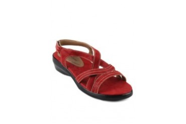prima classe Betsi Suede Casual Sandal Red