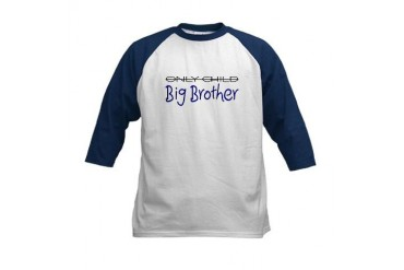 Only Child - Big Brother Kids Baseball Jersey