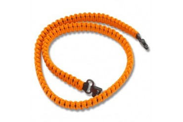 Knotty Boys Paracord Rifle Sling - Black/Blaze Orange