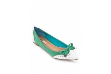 Lacy Contrast Ribbon Flats