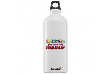 Brayden is Due in February.png Sigg Water Bottle 1 Love Sigg Water Bottle 1.0L by CafePress