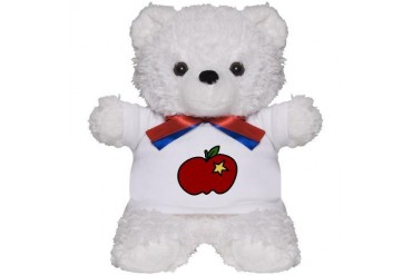 Apple And Star Food Teddy Bear by CafePress