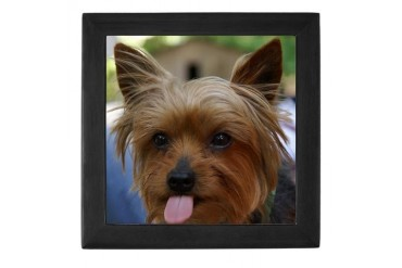 Cute Yorkie Funny Keepsake Box by CafePress