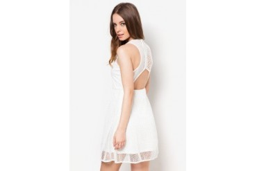 Something Borrowed Perforated Skater Dress