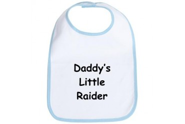 Daddy's Little Raider Sports Bib by CafePress