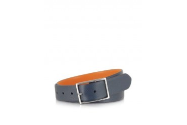 Blue and Orange Reversible Men's Belt