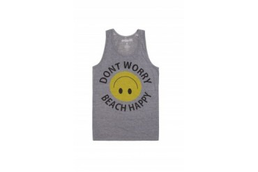 Mens Ambsn Tank Tops - Ambsn Happy Tank Top