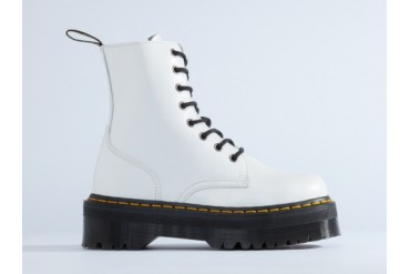 Dr. Martens Jadon Womens in White Polished size 10.0
