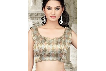Silver Georgette Blouse