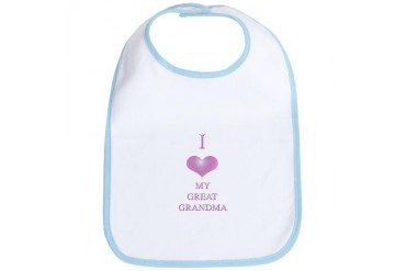 I love great grandma Baby girl Bib by CafePress