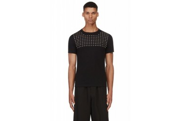 Christian Dada Black Studded T shirt