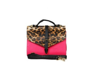 KUKI Bags Flavia Leopard Patterned Clutch