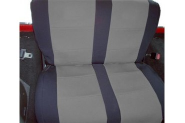 Coverking Black and Gray Neoprene Rear Seat Cover  SPC255 Seat Cover