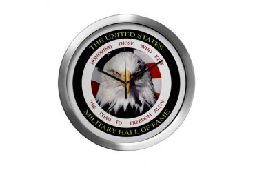 US Military Hall of Fame Military Modern Wall Clock by CafePress