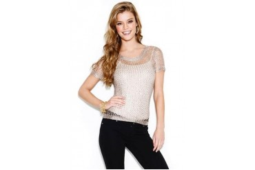 Sequin crochet top