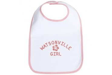Watsonville Pink Girl California Bib by CafePress