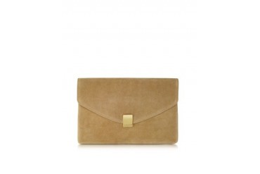 Lizor Suede Envelope Clutch