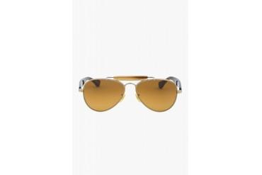 Oliver Peoples Stout Brown Teardrop Aviators