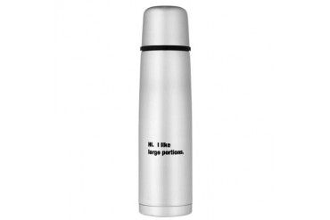portions.jpg Large Thermos Bottle Funny Large Thermosreg; Bottle by CafePress
