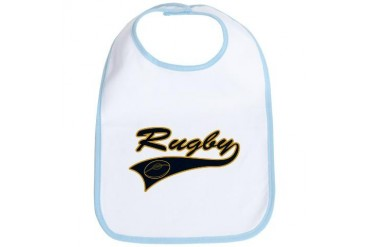Black and Gold Rugby Rugby Bib by CafePress