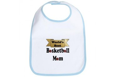 Worlds best basketball.png Sports Bib by CafePress