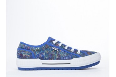 Kenzo Helmut Mens in Line Drawings Multicolor Blue size 9.0