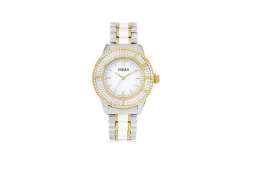 Tokyo Crystal 38 White and Gold Stainless Steel Women's Watch