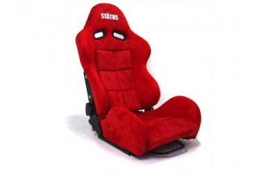 Status Racing SPA Reclineable Seat Carbon Fiber Red Suede Racing Seat