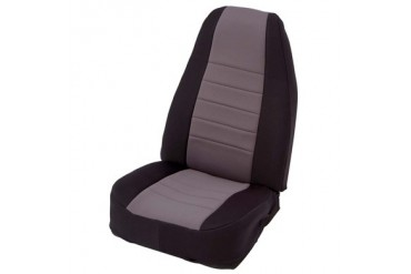 Smittybilt Gray on Black Custom Fit Neoprene Front Seat Covers 47222 Seat Cover
